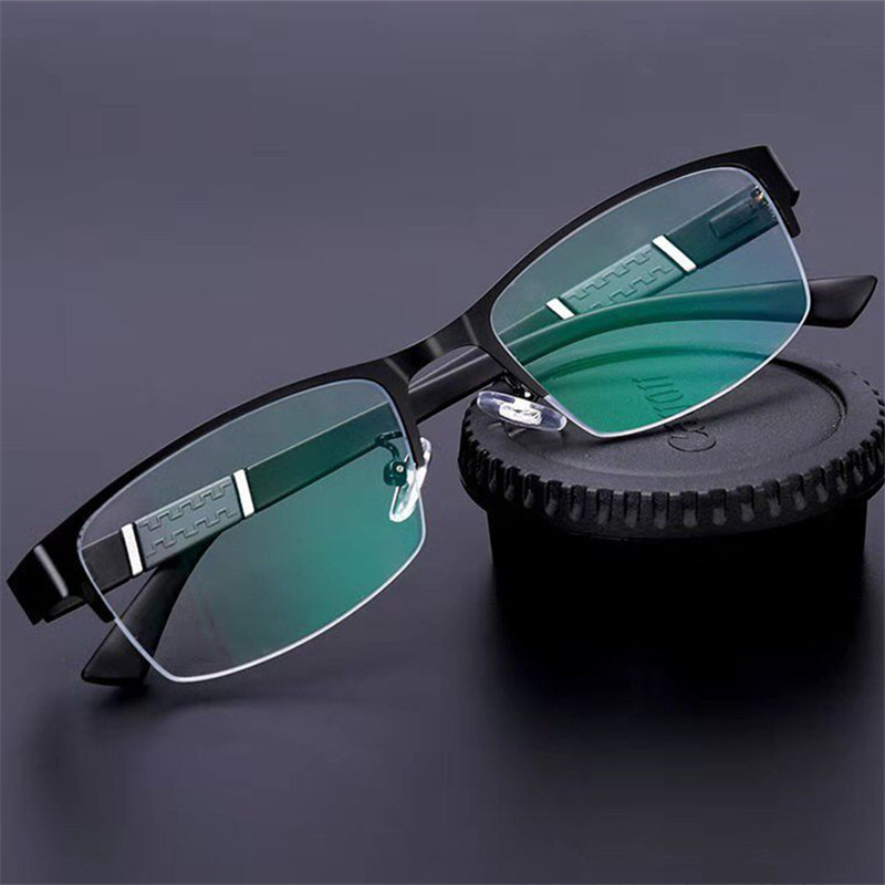 Occhiali da lettura uomo donna occhiali da vista diottrie a mezza montatura di alta qualità occhiali da vista presbiti maschili da uomo Lentes De lettura Mujer 2