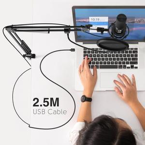 Image 4 - FIFINE Studio – Kit de microphone dordinateur USB à condensateur, avec support de bras à ciseaux réglable, support de choc pour les modifications vocales YouTube T669