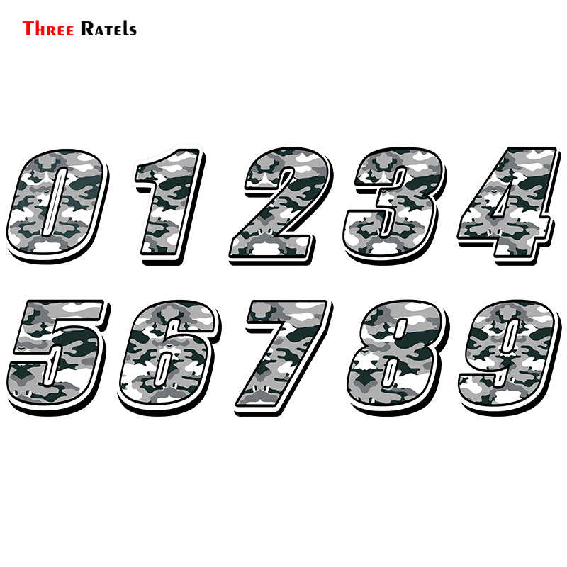 Drie Ratels FTC-872 # Auto Styling Racing Nummer Camouflage Sticker Motocross Auto Stickers Fiets Waterdicht Decals