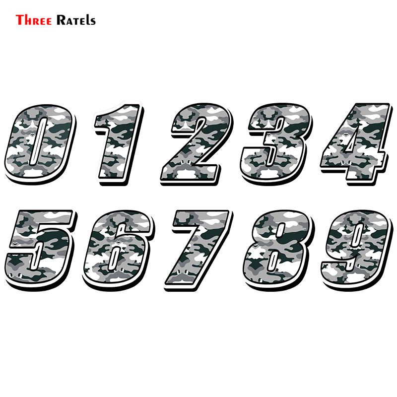 Three Ratels FTC-872# Car Styling Racing Number <font><b>Camouflage</b></font> <font><b>Sticker</b></font> Motocross Auto <font><b>Stickers</b></font> <font><b>Bike</b></font> Car Waterproof decals image