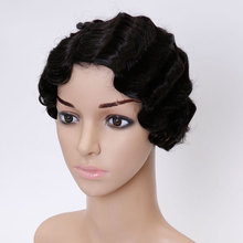 SHANGKE Hair Short Curly Synthetic Wigs For Black Women Short Black Wig Natural Curly Female Hair Wig Afro American Wigs short side bang afro fluffy curly synthetic wig