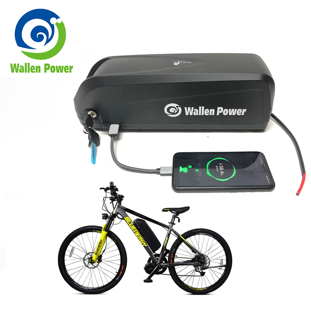 Electric bike <font><b>battery</b></font> 36V 10AH 15AH 52V 13AH 17.5AH Hailong Lithium ebike <font><b>48V</b></font> <font><b>Battery</b></font> for Bafang bicycle <font><b>1000w</b></font> 500w motor image