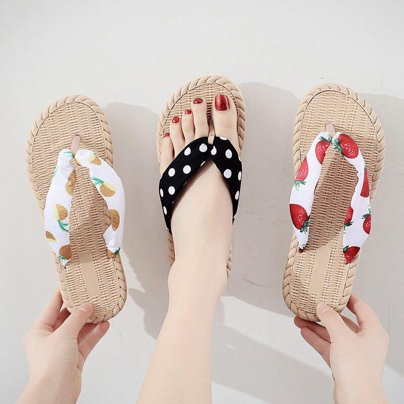 Женские шлепанцы для отдыха на море, Нескользящие шлепанцы, женские шлепанцы на плоской подошве, летняя Цветочная обувь