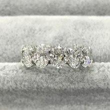 Sólido real produtos real 925 prata esterlina anel de banda de casamento eternidade para a noiva nupcial jóias de noivado persona r5343s
