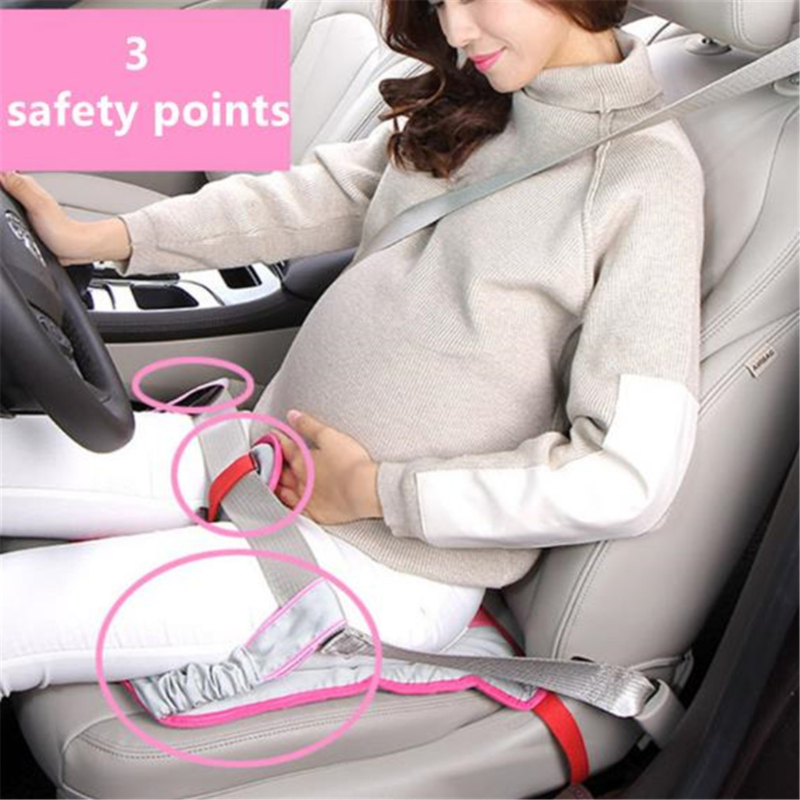Car Seat Belt Pregnant Women Clip Strap Seat Cushion Fetal Protection Belt Soft Comfortable Abdominal Band Protect The Fetus