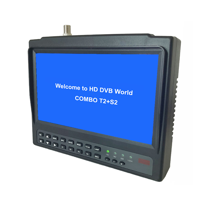 Цифровой спутниковый искатель, 7-дюймовый ЖК-дисплей, Φ Satfinder HEVC Full HD, счетчик, модулятор, приемник, спутниковый искатель, H.265