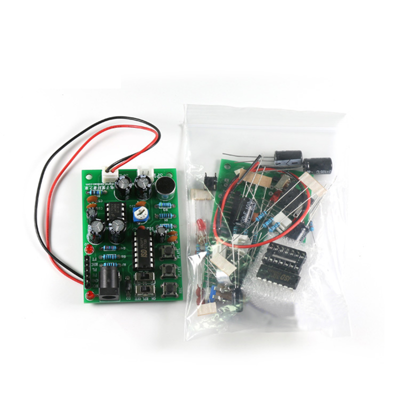 Recording Module DIY Kit Recyclable / Straight Through With Audio Amplifier Circuit ISD1820P