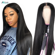 Allove Lace Front Human Hair Wigs Pre Plucked Straight