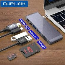 نوع C إلى HDMI USB Hub 4K USB C حوض USB C Hub USB C PD 100 واط TF SD USB 3.0 لباد برو 2020 شاومي هواوي PC ماك بوك برو الهواء