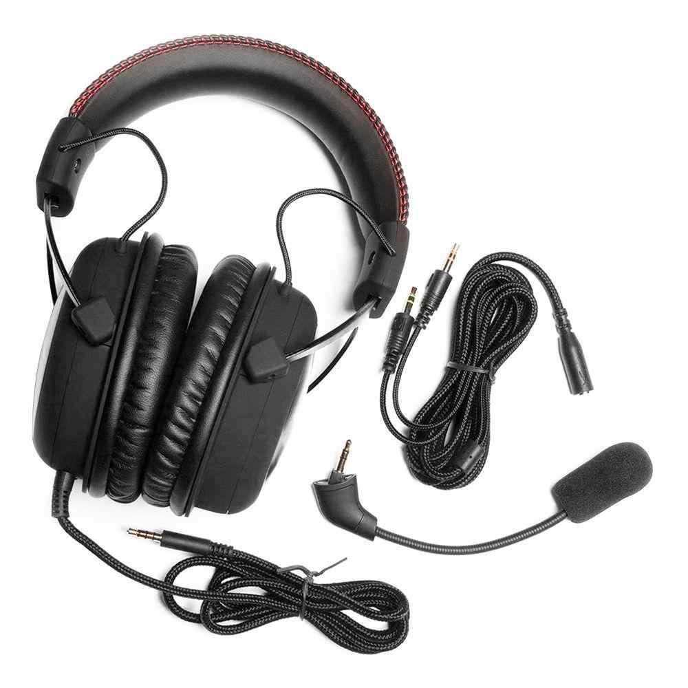 Kingston HyperX chmura rdzeń zestaw słuchawkowy do gier automatycznie poziom hałasu słuchawki AMP karta dźwiękowa USB dla komputer dla graczy PS4 Xbox jeden telefon