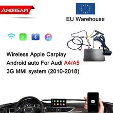 Беспроводной Apple Carplay Android авто интерфейс коробка для AUDI A4 A5 экран обновление