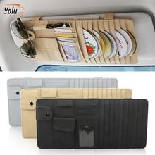 YOLU Car Styling Sun Visor CD DVD Card Organizer Glass Pen Stowing Case Auto Multifunctional Storage Holder Clip Bag