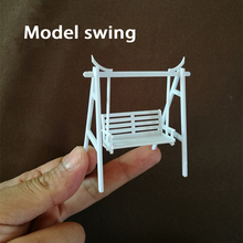 1:30-50 scale  sand table model Swing Rocking chair