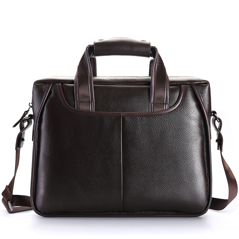 100% Genuine Leather Men's Briefcase Large Capacity Men Handbags Business Men Shoulder Messenger Bag Natural Cowskin Laptop Bag