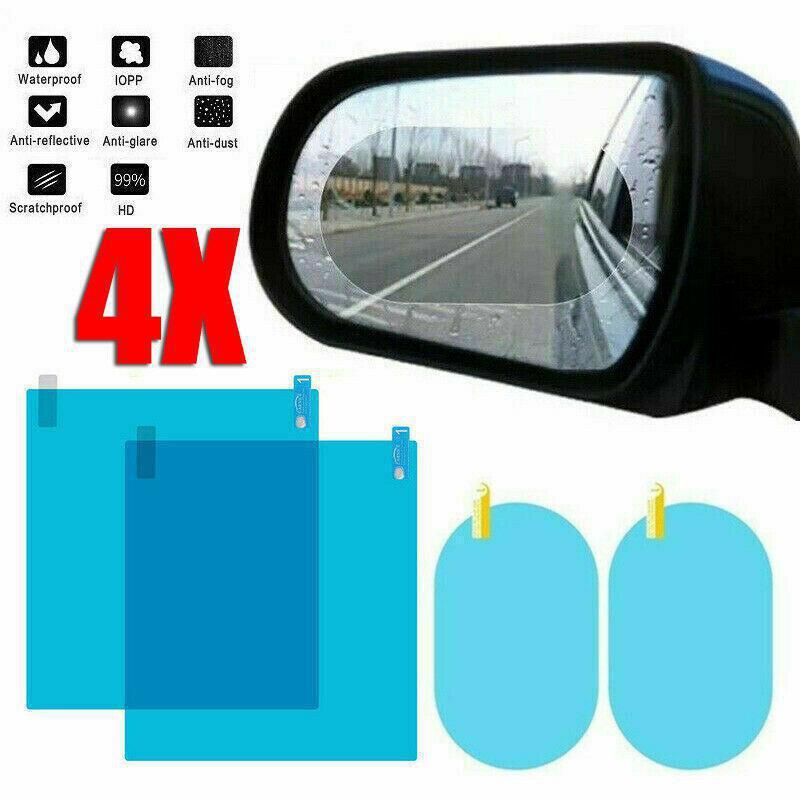 4 Pcs Car Rearview Mirror Rainproof Anti-fog Sticker Protective Film Rain Shield