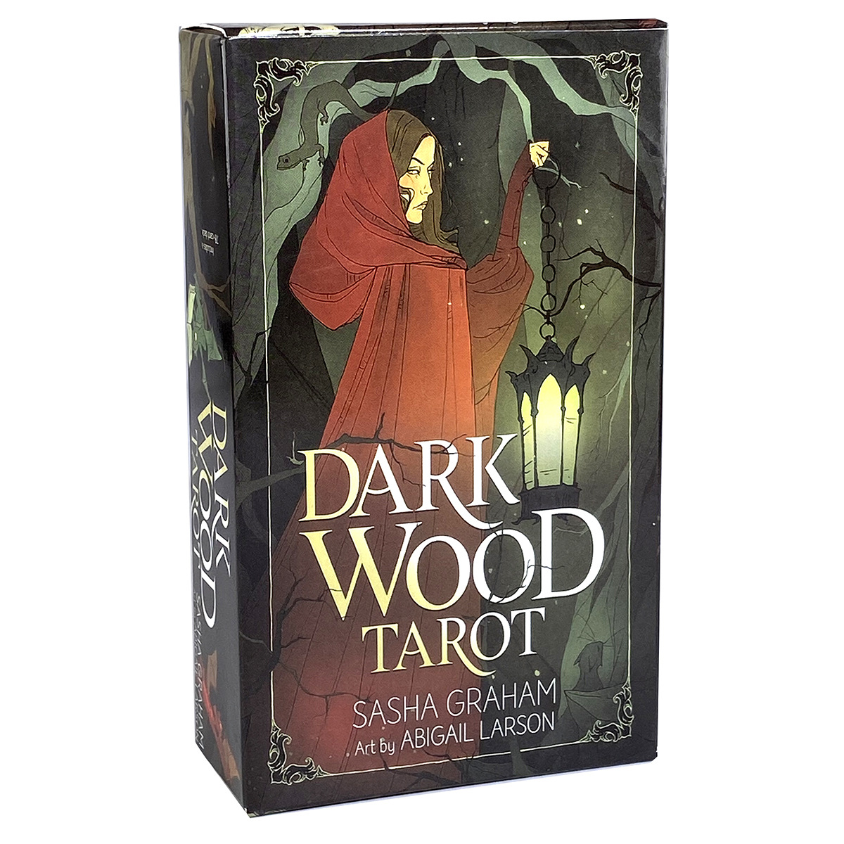 Dark Wood Tarot Card Oracle Deck New English Version Tarot Deck for Fate Divination Board Game for Adult Playing Card Game