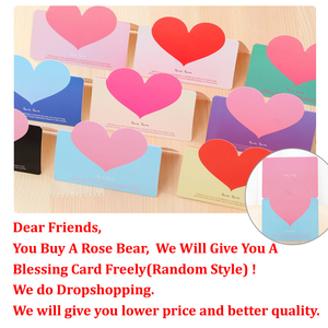 Image 5 - Valentines Day 40cm Rose Bear Artificial Flower Roses Girlfriend Gift Ornaments Teddy Bear of Rose Decorations Foam Flower Head