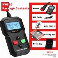 OBD Diagnostic Tool OBD2 Scanner Support Multi Brands Cars&languages KW590 Car Code Reader automotive