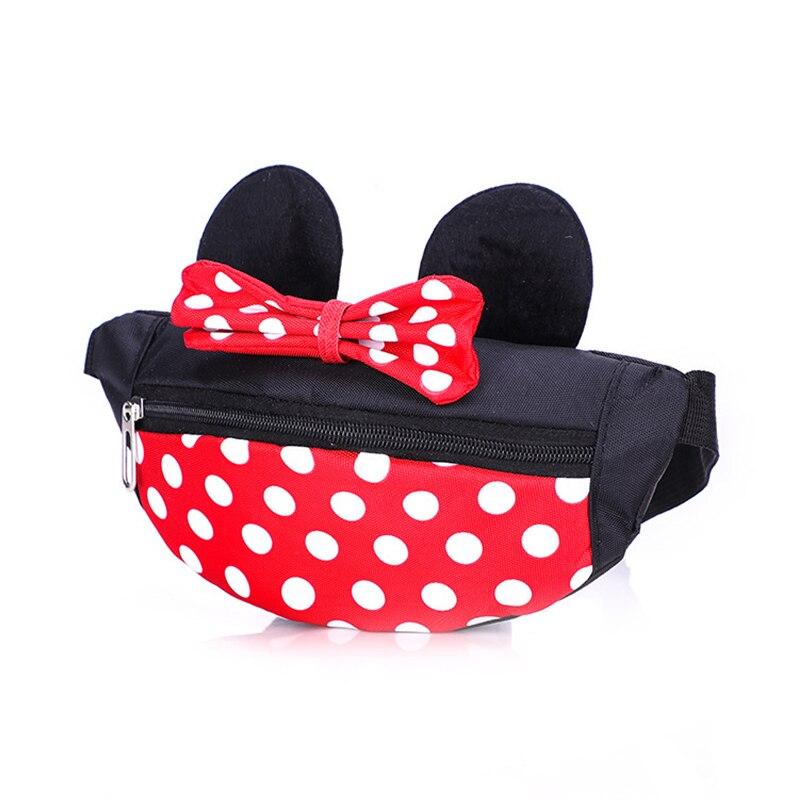 Child Cartoon Mickey Waist Bag Children's Fanny Pack Storage Space Fashion Girl Crossbody Waist Bags Gift Kids Waterproof Pocke