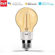 Yeni 2020 Yeelight akıllı LED Filament ampul E27 500lm 6W topu ışıkları WiFi uzaktan kumanda ile çalışır mobil APP apple Homekit