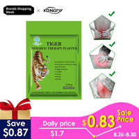 KONGDY Tiger Balm Gips 7*10 cm Transdermale Nackenschmerzen Patch 10 Stücke/1 Beutel Kräuter Schmerzlindernde Pad Reißverschlusstasche Muskelmassage