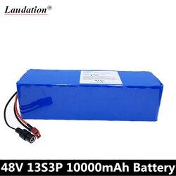 13S3P 48V 10AH 750W kontroler 54.6V akumulator litowo-jonowy do roweru elektrycznego z 25A zbalansowanym BMS