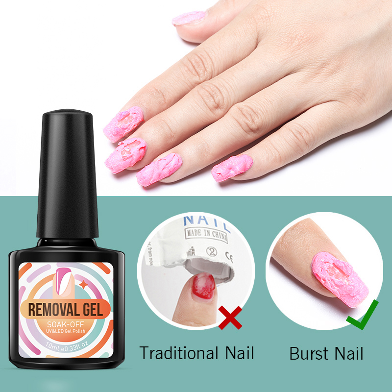 Modelones Burst Magic Remover Nail Gel Polish Clean Degreaser For Gel Nail Lacquer Acrylic Burst Nail Cleaner Remover in Nail Gel from Beauty Health