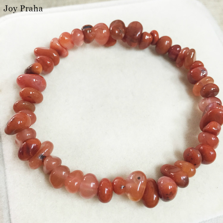Natural South Red Agate Bracelet / Pink Gravel Crystal Women Jewelry / Wholesale Dropshipping