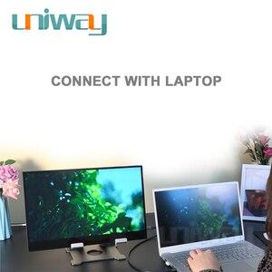 Image 3 - Uniway 13.3 אינץ נייד צג עבור סוג c hdmi עבור מחשב נייד מחשב טלפון xbox מתג ps3 ps4 משחקים צג