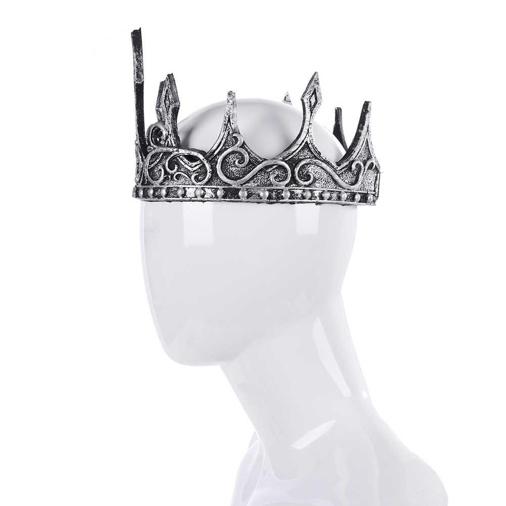 Starożytny stroik Larp Viking Corona Hombre średniowieczny mężczyźni królewski król tiary korona akcesoria do włosów Party rekwizyt cosplay