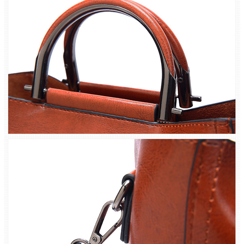 Image 4 - Women Vintage Leather Handbags For Woman Shoulder bag Designer  High Quality Messenger Crossbody Bags 2019 Ladies Luxury Hand  bagShoulder Bags