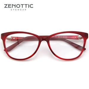Image 4 - ZENOTTIC Retro Acetate Cat Eye Glasses Frame Women Luxury Optical Myopia Spectacle Frames Clear lens Prescription Eyeglasses