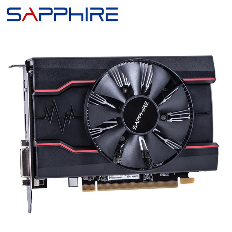 Original SAPPHIRE RX 550 2GB Video Cards GPU AMD Radeon RX550 2GB GDDR5 Graphics Cards PC Desktop Computer Game Map PCI-E X16