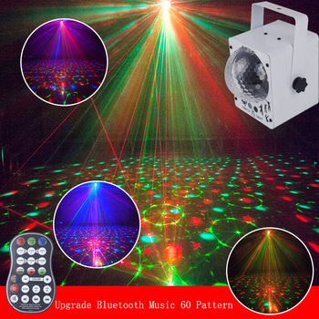 Music Play Soundlights Disco Lamp RGB Bluetooth MP3 Led Disco Light Ball Party Light Rotating Stage Lamp DJ Projector Laser