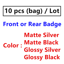 10 Pcs ABS plata Range Rover Negro estilo de coche accesorios capucha capó parrilla delantera del tronco emblema logotipo insignia pegatina calcomanías