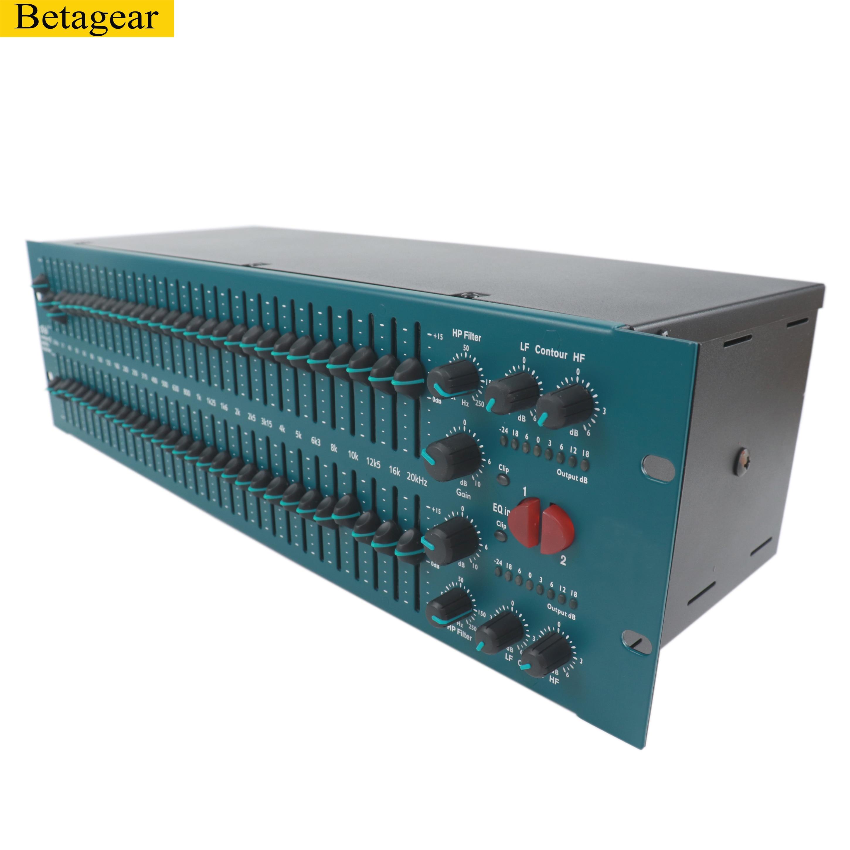 Betagear 31 band stereo grafik equalizer EQ FCS966 lautsprecher management graphic equalizer audio graphic eq professional audio