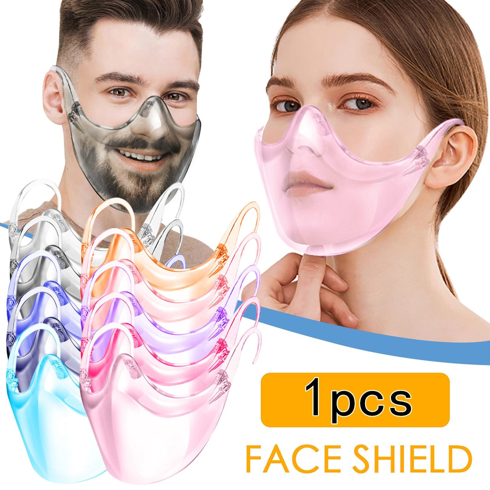 Прозрачная крышка для рта моющаяся прочная черная маска для лица комбинированная пластиковая маска для рта розовая многоразовая прозрачна...