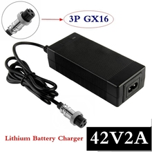 Lithium-Battery-Charger 3-Pin-Gx16-Connector Electric-Bike Li-Ion for 36V with 42V