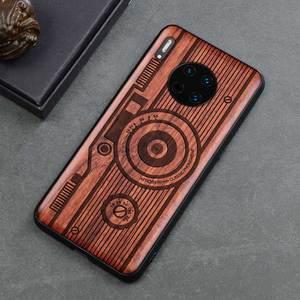 Image 5 - 2019 Nieuwe Voor Huawei Mate 30 Pro Case Slim Wood Back Cover TPU Bumper Case Op Huawei Mate30 Mate 30 pro Telefoon Gevallen