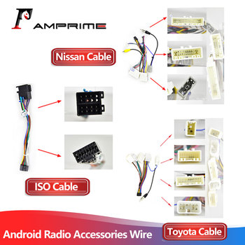 AMPrime Android radio Car Accessories Wire Wiring Harness Adapter Connector Plug universal cable For Nissian Toyota Car image