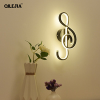 White/Black LED Wall Lamp lampada Bedroom Beside Wall Light Home Indoor Decoration Lighting Corridor Aluminum Wall Sconce
