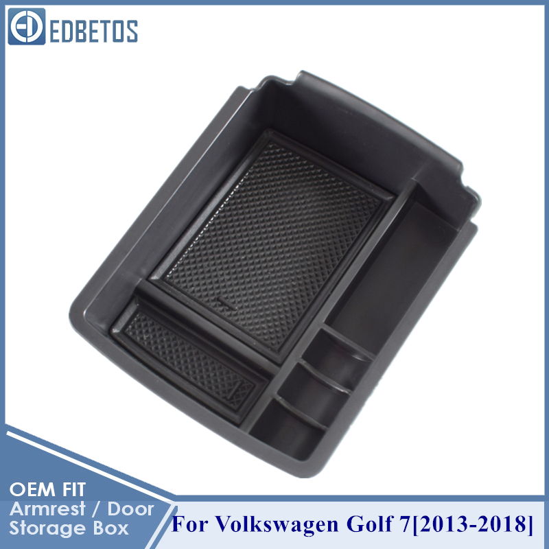 EDBETOS For Golf 7 Armrest Storage Box For Volkswagen Golf 7 Golf Mk7 VII 5G GT I R 2013 2014 2015 - 2018 Accessories Styling
