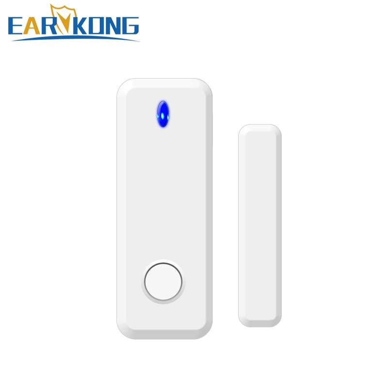 Беспроводной интеллектуальный детектор открытия/закрытия окон и дверей, 433 МГц, дверной зазор, открытие окон, сигнализация для G4/W123, Wi-Fi, GSM си...