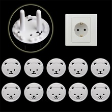 Plug-Locks Socket-Cover Outlet Baby-Proof Usa European The 10pcs