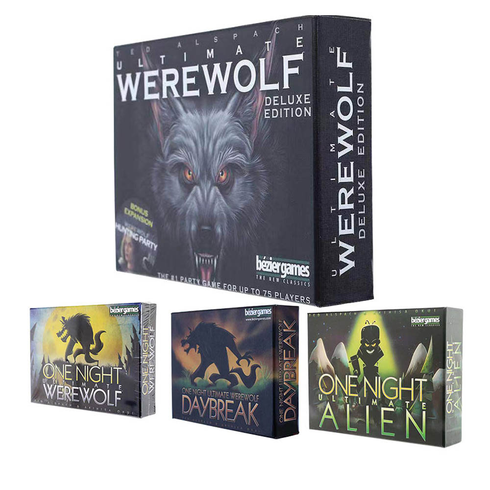 One Night Ultimate Werewolf Alien Board Game Werewolves Card Game Funny Party Game Family Friend Entertainment Playing Games