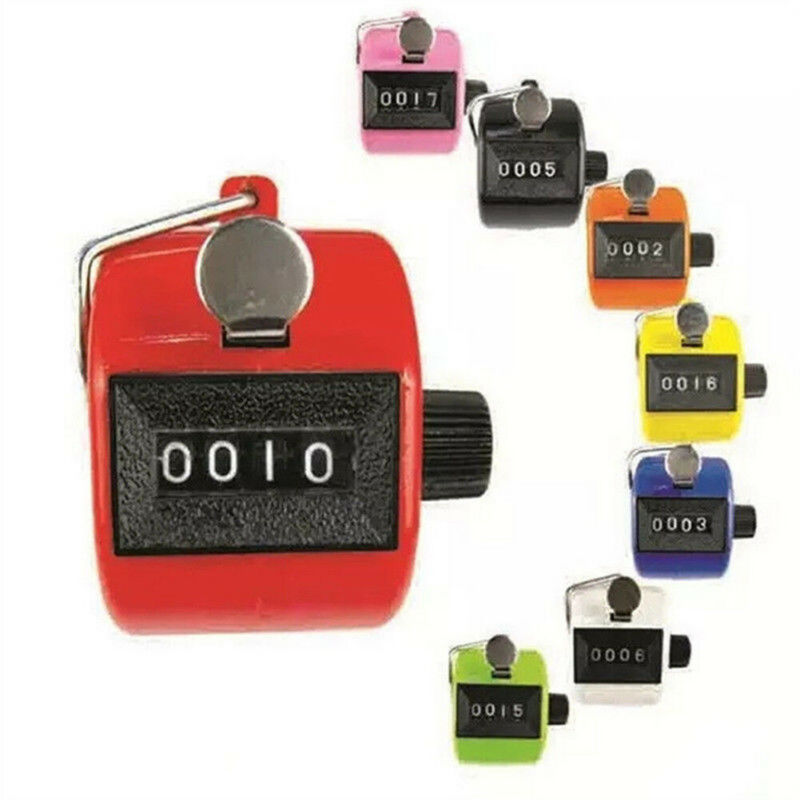 Mechanical Manual Palm Clicker Click 4 Digit Hand Counter Count Number Tally For Golf