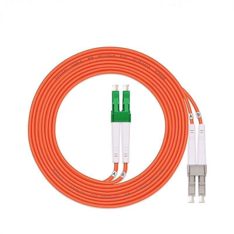5 шт./лот LC/UPC-LC/APC Волоконно-оптический патч-корд 1 м 2 м 3M 5 м дуплексный многомодовый кабель FC-FC оптического волокна Перемычка ММ DX Бесплатная ...