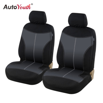 AUTOYOUTH Classic Oxford cloth Front Seat Cover Universal Fit for Toyota Honda ford nissan Seat Covers Car Seat Protector Black image