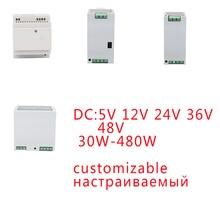 yk customizable smps power supply switching transformer 220v 5v 12v 24v 36v switch led strip ac dc power source supply 15w 25w YK 30W-480W Rail SMPS Power Supply Switching Transformer 220V 5V 12V 24V 36V AC DC Customizable Power Source