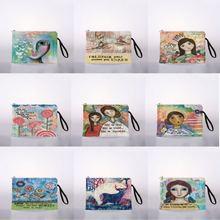Простой + девушка + карман + милый + косметика + макияж + сумка + дорожная + молния + косметика + карандаш + кошелек + органайзер + сумка + кошелек + сумочка